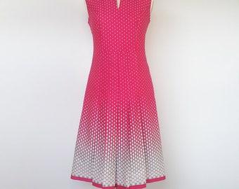 Mod Collar Dress GoGo Red UK 12 M US 10