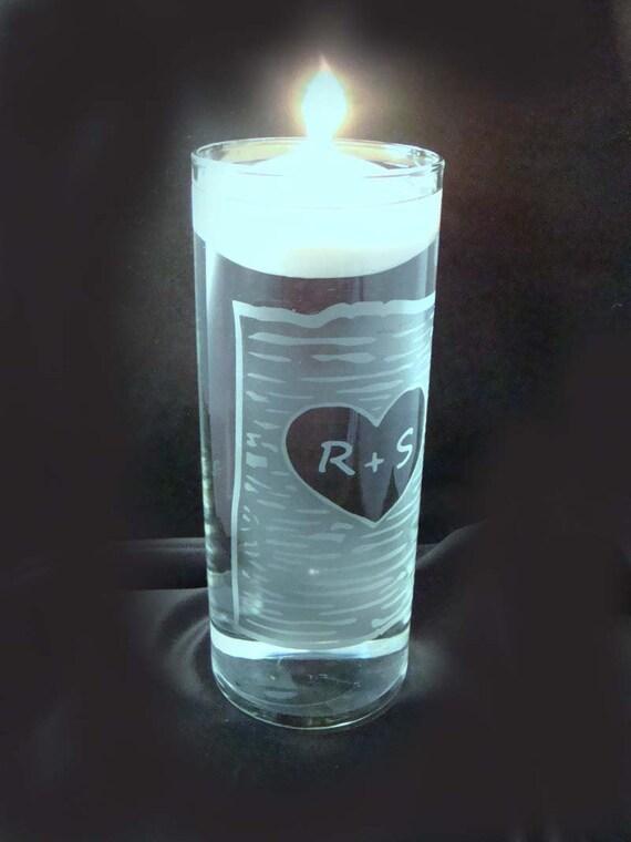 Personalized Etched Wedding Unity Candle Vase - Rustic Wedding - Personalized Unity Ceremony - Unity Candle Holder  - Unity Celebration