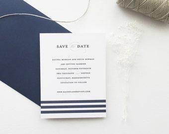 Rachel Nautical Wedding Save the Date - Sample