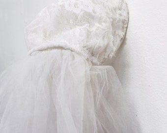 antique bridal hat & veil