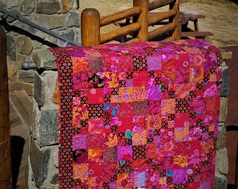 Red River Valley Quilt--Inspired by Kaffe Collective Designers: Kaffe Fassett, Brandon Mabley and Phillip Jacobs.