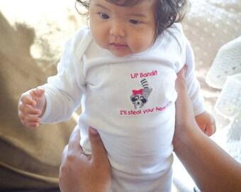 One-Piece Baby Sleeping Gown - Lil' Cub Hub Baby Bandit Raccoon Original Design and Saying