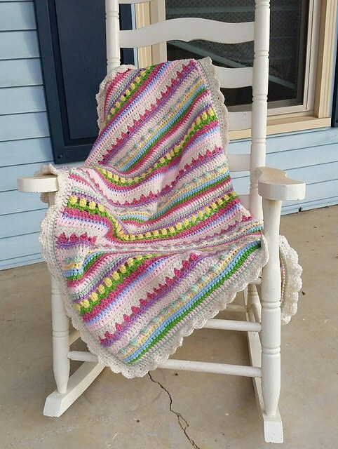 Free Crochet Pattern For Confetti Baby Blanket : Confetti Baby Blanket Pattern