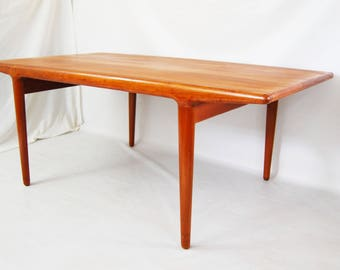 Danish Modern Johannes Andersen Teak Dining Table with Extensions