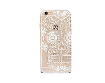 iPhone 8/X case Clear iPhone 8 Plus case iPhone 7 Plus case white skull transparent soft silicon case - TSW6003U