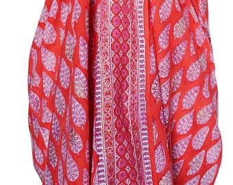 Hand Block Printed Sarong - Cypress Paisley Red
