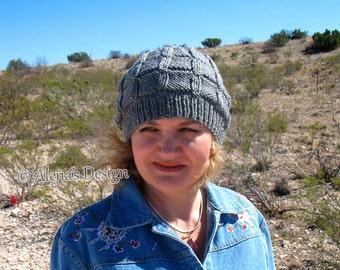 Knitting Pattern 172 - Knitting Hat Pattern Mens Beanie Hat Slouchy Beanie - Child Teen Adult Ladies Unisex Hat - Women Winter Hat Christmas