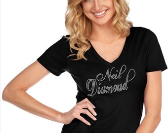 Custom Rhinestone BLiNg Neil Diamond Bedazzled Shirt