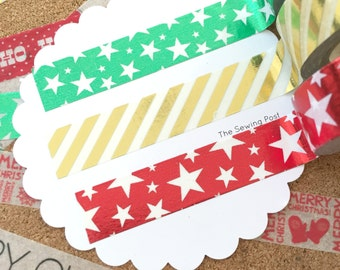Washi Tape Set: Foil Christmas