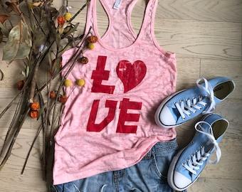 Love Tank Top. Clothing. Women's Clothing. Women's Tank Top. Love Tank Top. Love T-Shirt. Funky Love Tank.