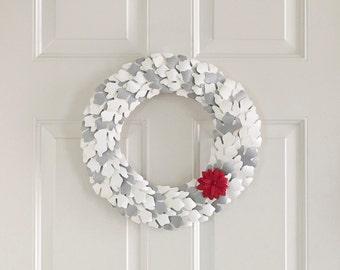 Winter Door Decor - Silver - Door Decor - Paper Leaves