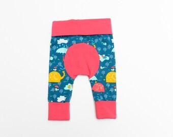 Newborn Baby Girl Pants - Baby Girl Maxaloones Pants, Fluff Butt Pants, Baby Leggings, Modern Baby Clothes, Grow with Me Pants