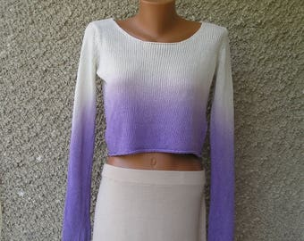 Vintage cropped sweater blouse, size S-M