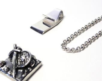 THE clip pendant. Sterling silver - Interchangeable wearables