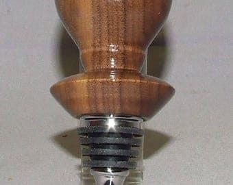 Stainless steel bottle stopper in Walnut, Item 373503