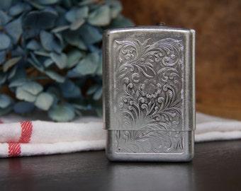 Vintage Floral Embossed Aluminum Case