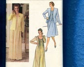 Vintage 1980's Vogue 7992 Country Chic Dress with Tiny Bodice Tucks & Puff Sleeves Size 16