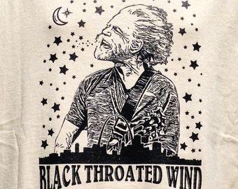 Ladies Black Throated Wind Bob Weir T shirt  / Mongo Arts / Shakedown Street / Womens Bella Junior Fit Lot Style T Shirt