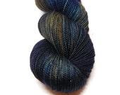 "Fingering Weight, ""Out on the Tiles"" Merino Wool Superwash Yarn, 4 oz, machine washable yarn"