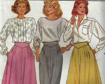 VIntage 1986 Butterick Pattern #4264 Misses Sz 8-10- 12  SKIRT, PANTS CULLOTES