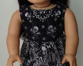 """Skully Dress Handmade to fit 18"""" dolls like the American Girl"""