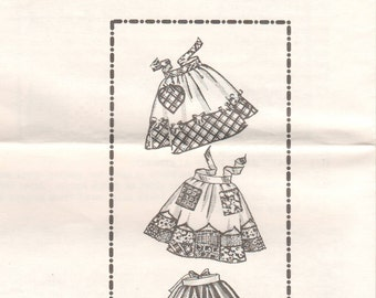 1960s - Mail Order Designs 7174 Vintage Sewing Pattern One Size Only Half Apron Bow Patch Scallop Kitchen Accessories Baking Hostess Gift