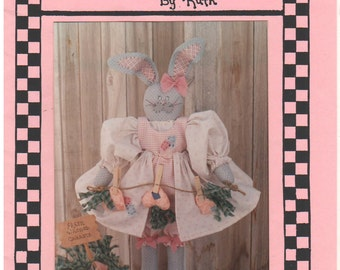 1993 - Dolls By Ruth 139 Vintage Sewing Pattern Craft Oh No A Grey Hare Rabbit Bunny Stuffed Doll Decoration Easter Uncut