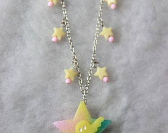 Star and Ghost Creepy Cute Necklace