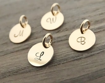 Gold Initial Charm Pendant Custom Initial Personalized Initial Jewelry Tiny Gold initial Gold Initial Charm Initial Pendant