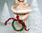 Winter, Small OOAK Hand Sculpted Art Doll Collectible