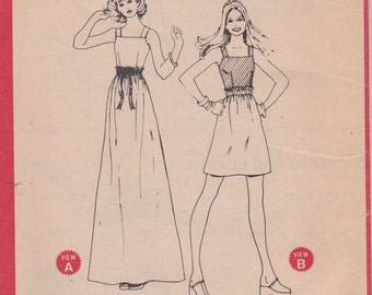 70s Sleeveless Blouse & Skirt Pattern McCalls 3977 Size 16 Uncut