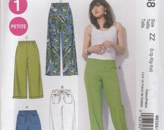 Drawstring Pants & Shorts Pattern McCalls 6568 Sizes L, XL, XXL (16 - 26) Uncut