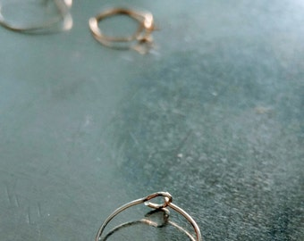 Extra Thin Nose Ring/ Earring With Clasp - 26 Gauge - (0.4mm) - Fine Silver Filled