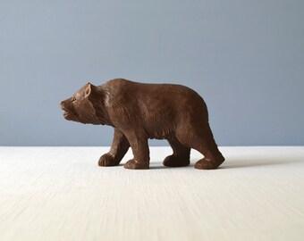 Vintage Black Forest Bear Wood Carving