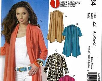 Misses' 1 Hour Cardigan / Original McCall's Uncut Sewing Pattern M6084