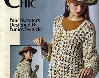 Crochet Chic Four Sweaters To Crochet Pattern Book  Leisure Arts Leaflet 2194