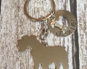 New style Schnauzer Custom Keychain Dog Lover