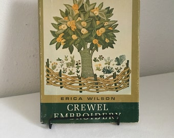Crewel Embroidery by Erica Wilson, Embroidery Book, Needlework Book