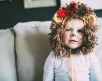 Baby Lion Hat, Lion Mane, Lion Hat, Infant Lion Hat, Crochet Hat, Baby Animal Hat, Baby Lion