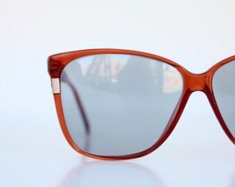 Vintage 80's Cognac Oversized Sunglasses Frames