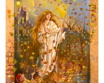 Mary of the Leaves Giclee by Tony Troy