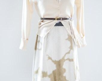 Animal Print Skirt., - 1960s ranch Skirt, Cowgirl Fashion, Cattle Pony Skirt. Faux Fur Skirt/ 60s Wrap Skirt, A Line skirt