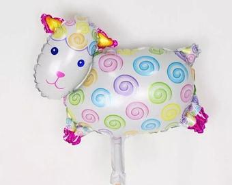 Small Sheep Balloon - 16 Inch Little Cute Cow Balloons Animal Balloons Sheep Balloon Ballon ( Birthday Decor & Party Balloon Supplies )