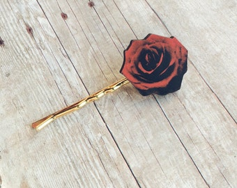 Rose Hair Accessory Flower Barrette Pin