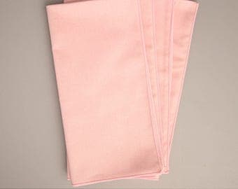Pink Napkins, Set of 4 Cloth Napkins, Dinner Napkins, Solid Pink Napkins, Table Napkins, Table LInens, Home Decor