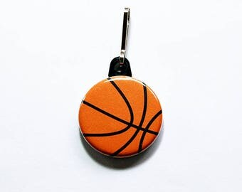 Basketball zipper pull, Basketball Player gift, backpack zipper pull, zipper pull, Basketball team, Basketball prize (7518)