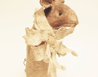 Extreme Primitive Daisy Mouse - Made To Order, Primitive Mouse, Country Decor