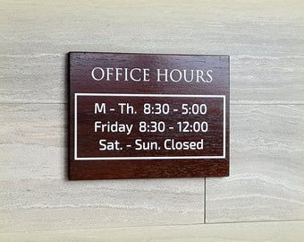 Wood Open Closed Sign Business Sign Reception Sign Open