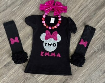 FREE SHIPPING!! Minnie Mouse birthday shirt, Minnie Mouse Birthday Outfit, Minnie Birthday Shirt,Personalized Minnie Mouse Shirt
