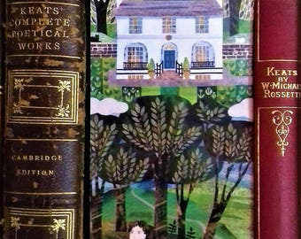 Bookmark, John Keats, Keats House, Collage, Cut Paper, Gift for Poetry Lovers, Poetry, Recycled Art, Naive Art, Illustration,